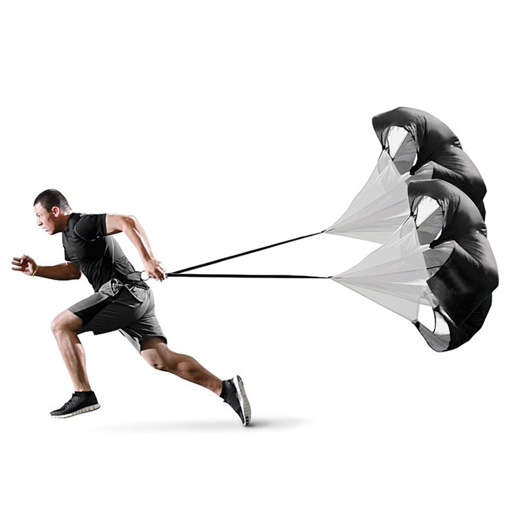 Micogo 58'' Resistance Speed Training Parachute & Fitness Explosive Power Training Equipment,with 2 Umbrella by Micogo (Image #4)