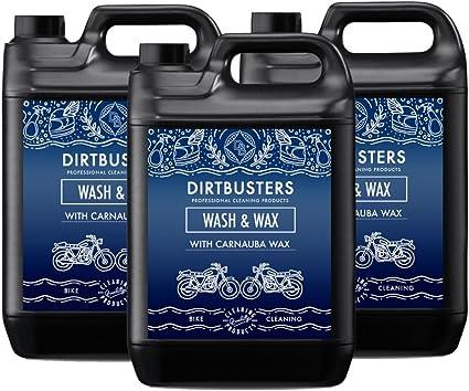 Dirtbusters moto lavar y cera 3 x 5 litros profesional para moto ...