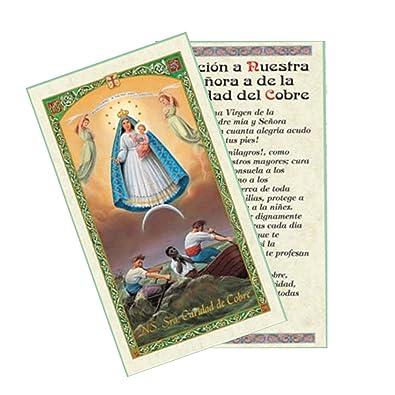 Gifts by Lulee, LLC Caridad Del Cobre Patrona De Cuba Tarjeta Laminada Bendita Por Su Santidad Francisco