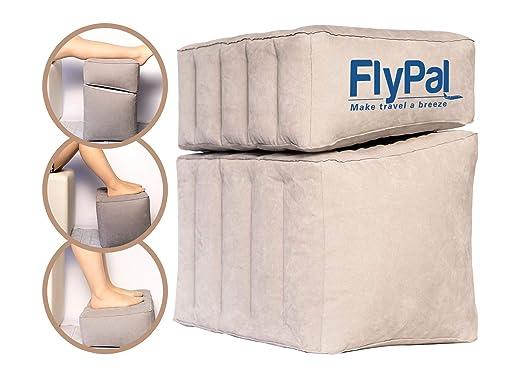 Flypal Reposapiés Inflable para Viajes, hogar y Oficina y ...