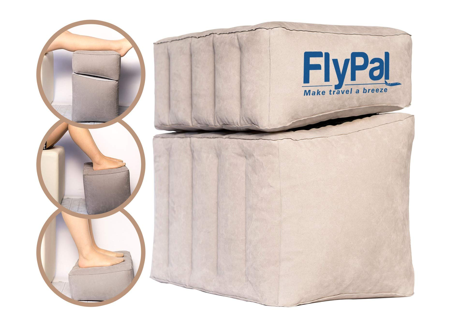 """Flypal SP103 Travel Foot Rest, Combined: 17"""" x 11'' x 17'', Grey"""