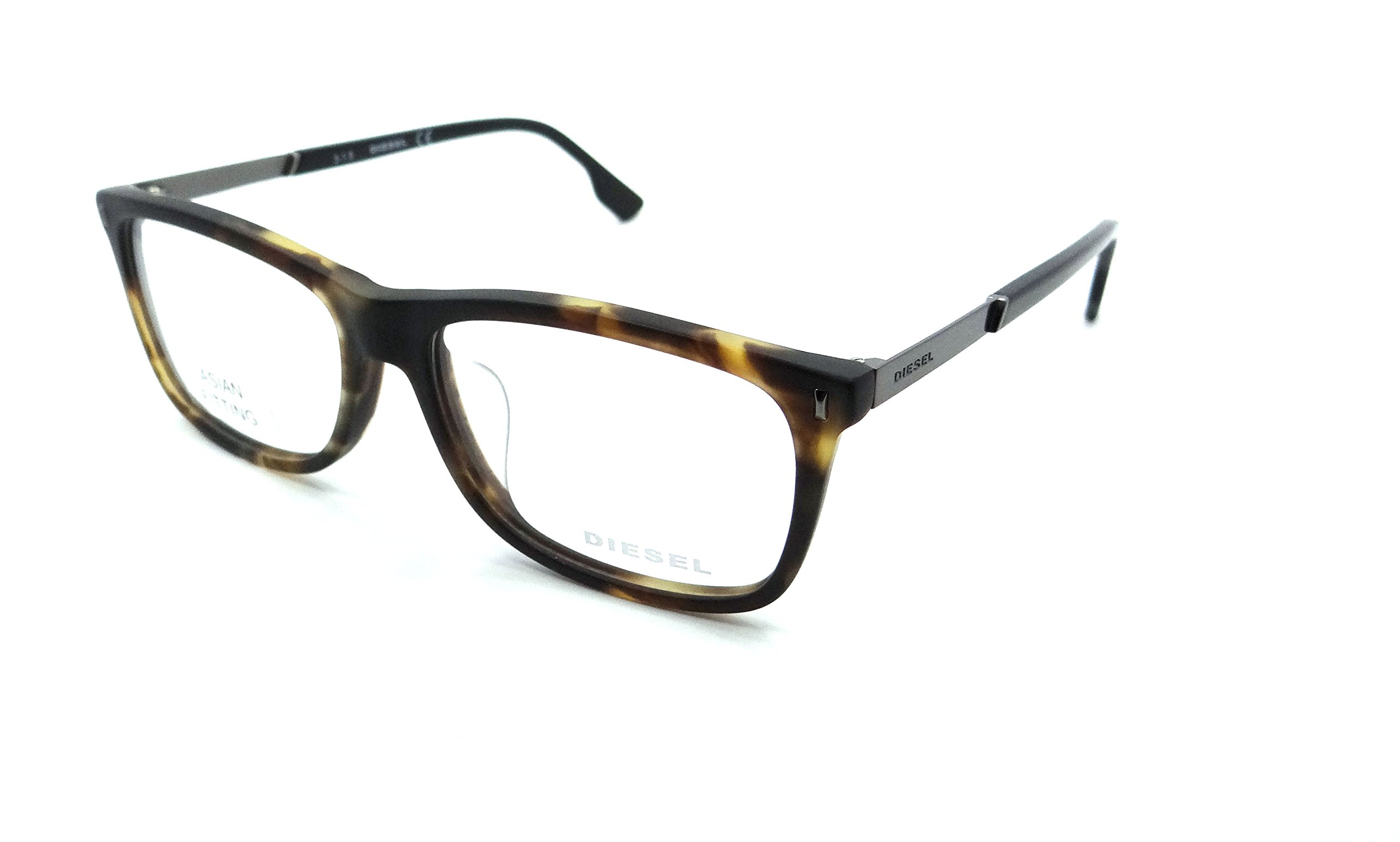 Diesel Rx Eyeglasses Frames DL5199-F 055 53-15-145 Matte Dark Havana Asian Fit