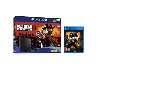 Sony Ps4 Pro 1 Tb Red Dead Redemption 2 + Call Of Duty Black Ops 4 (Exclusive) by Play Station