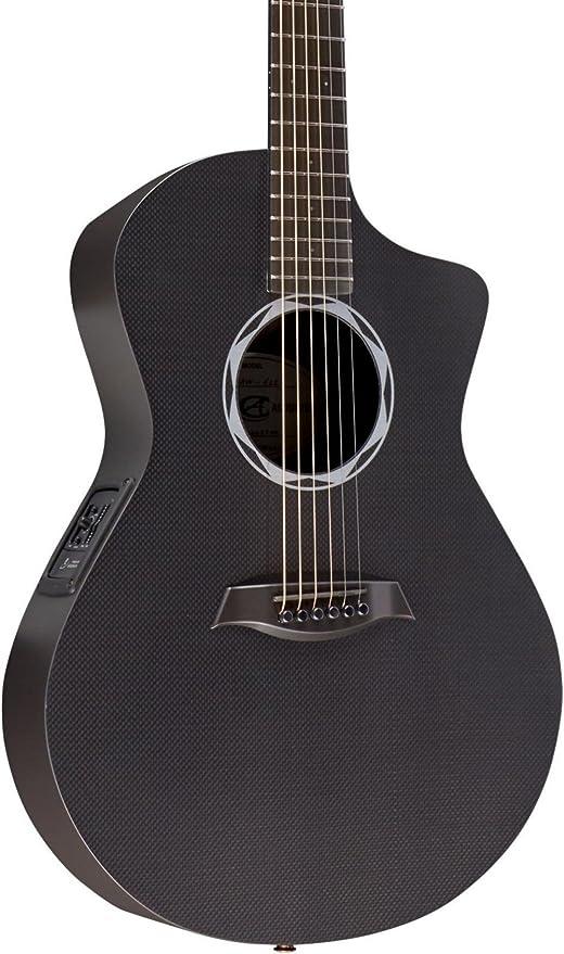 Compuesto acústica buey Ele de fibra de carbono guitarra acústica ...