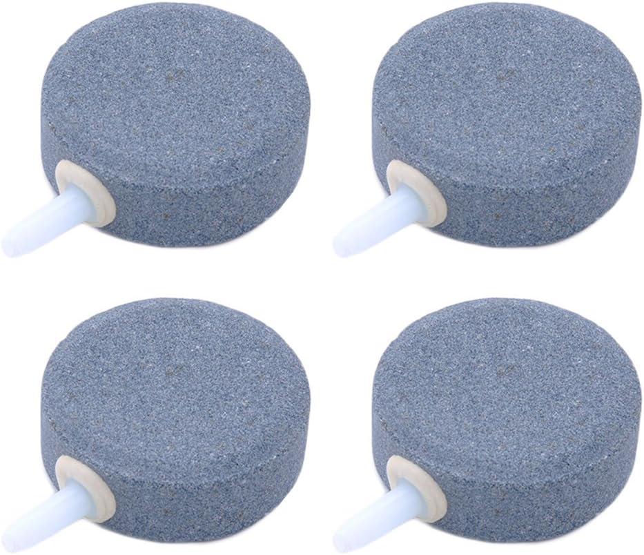 UEETEK Piedras Difusor de Aire Forma Redondo para Los Tanques de Peces o Acuarios 4pcs