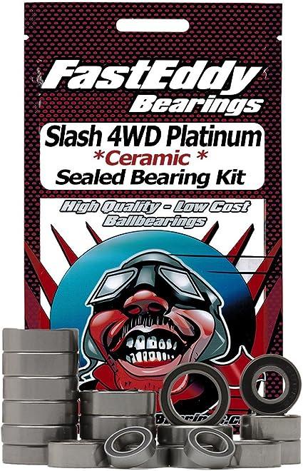 Traxxas Slash 4WD Platinum Ceramic Rubber Sealed Ball Bearing Kit for RC Cars