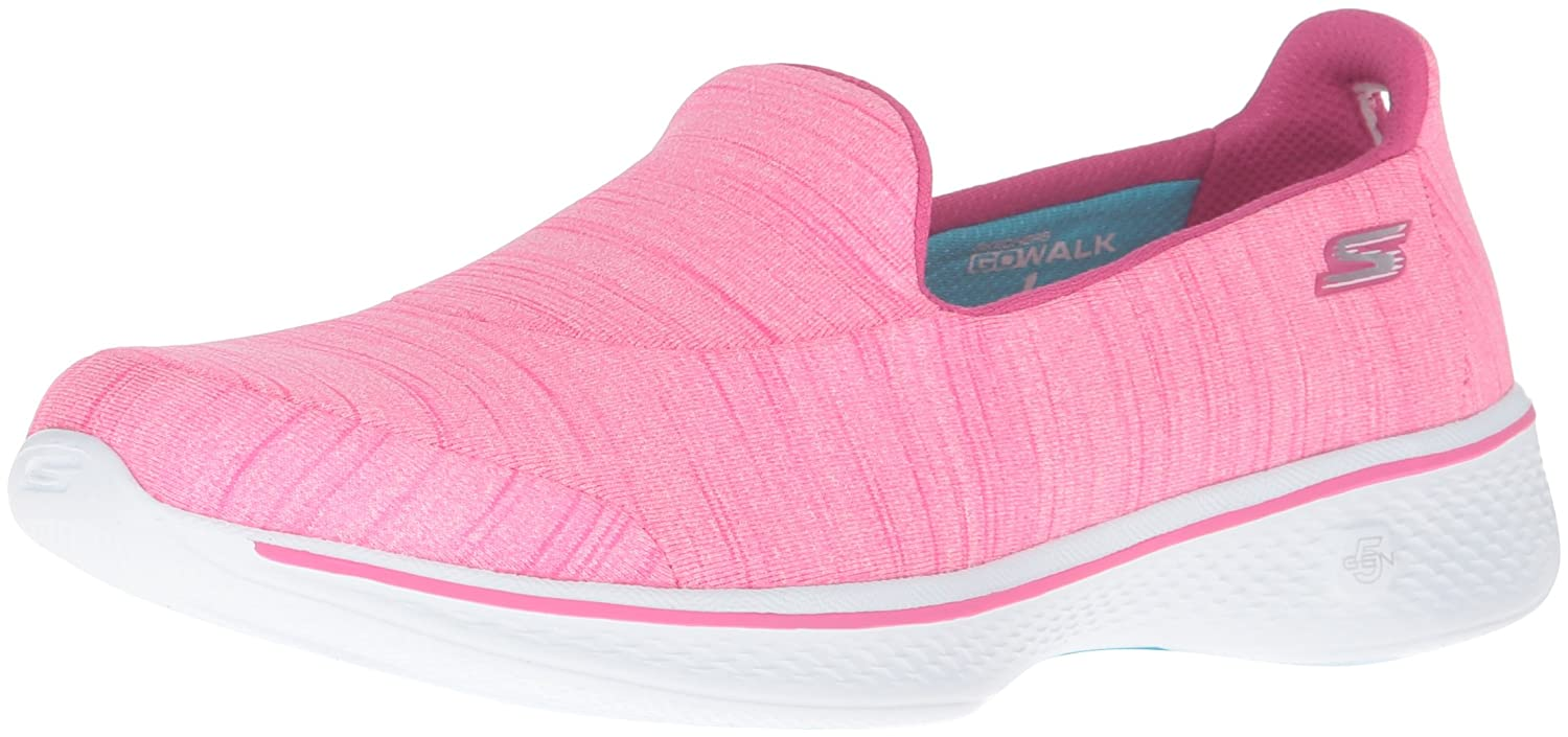 Skechers Damen Go Walk 4-Satisfy Laufschuhe  41 EU|Pink (Hot Pink)
