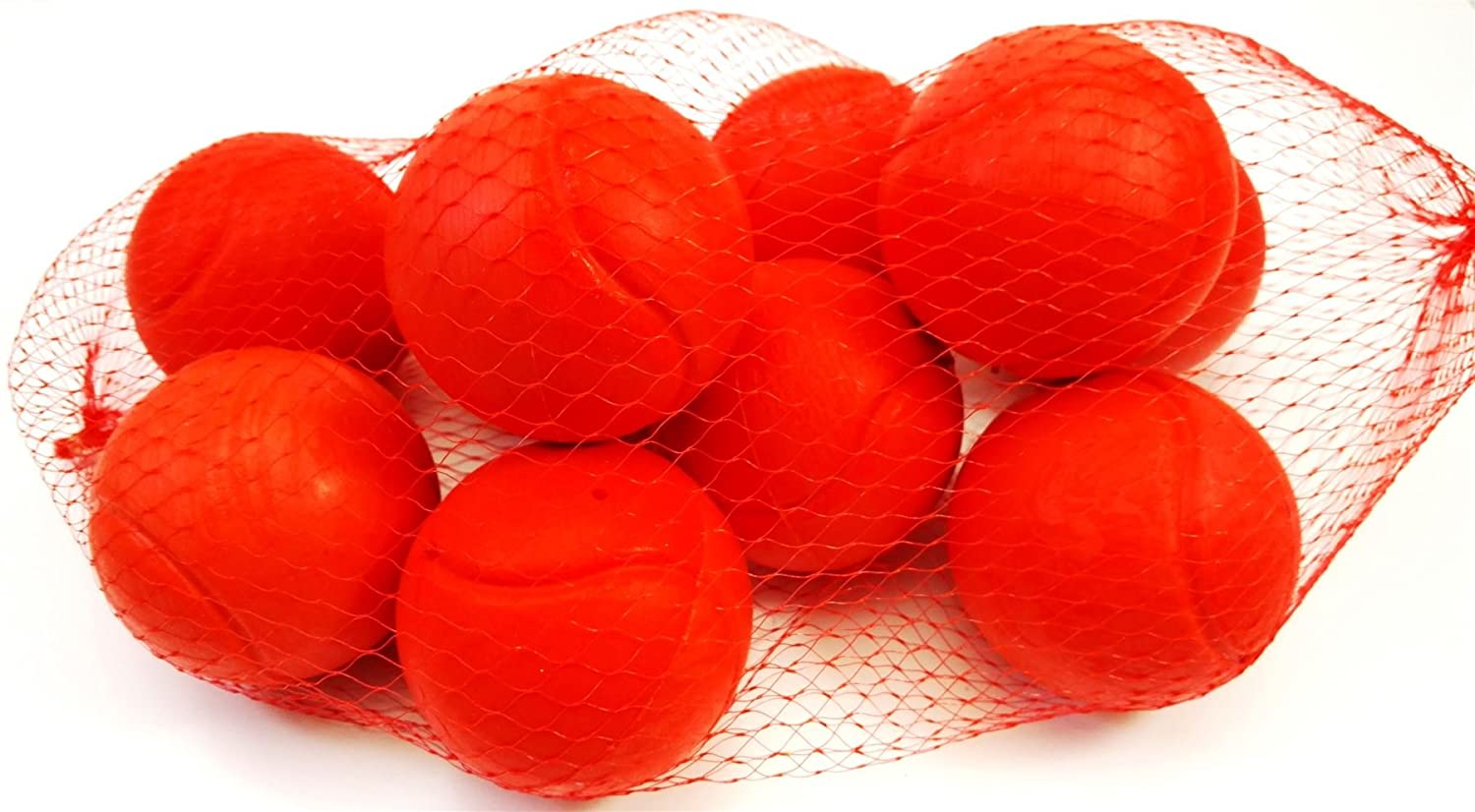 10 Foam Tennis Ball 70mm Red Indoor Outdoor Football Soccer Fun Sport Soft Toy Play for Kids Kick Catch Game Concept4u