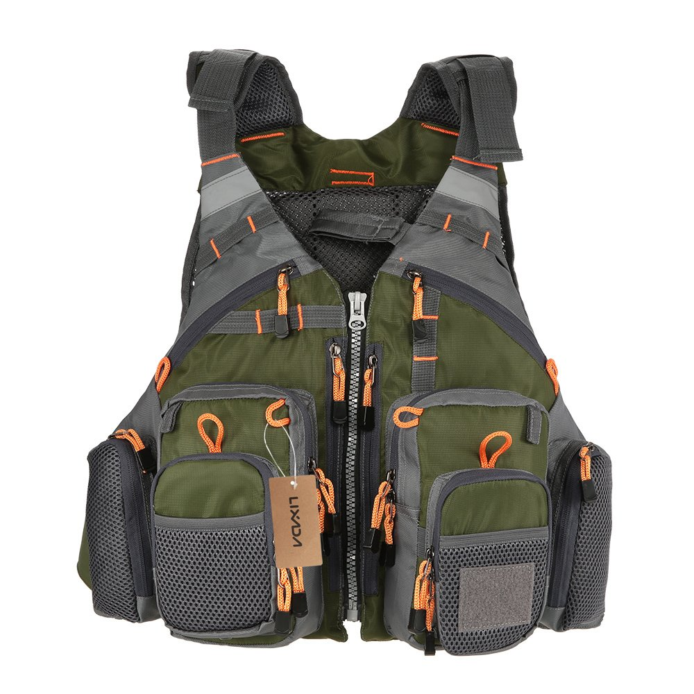 Lixada Fly Fishing Vest-Fishing Safety Life Jacket Breathable Polyester Mesh Design Fishing Vest for Swimming Sailing Boating Kayak Floating by Lixada