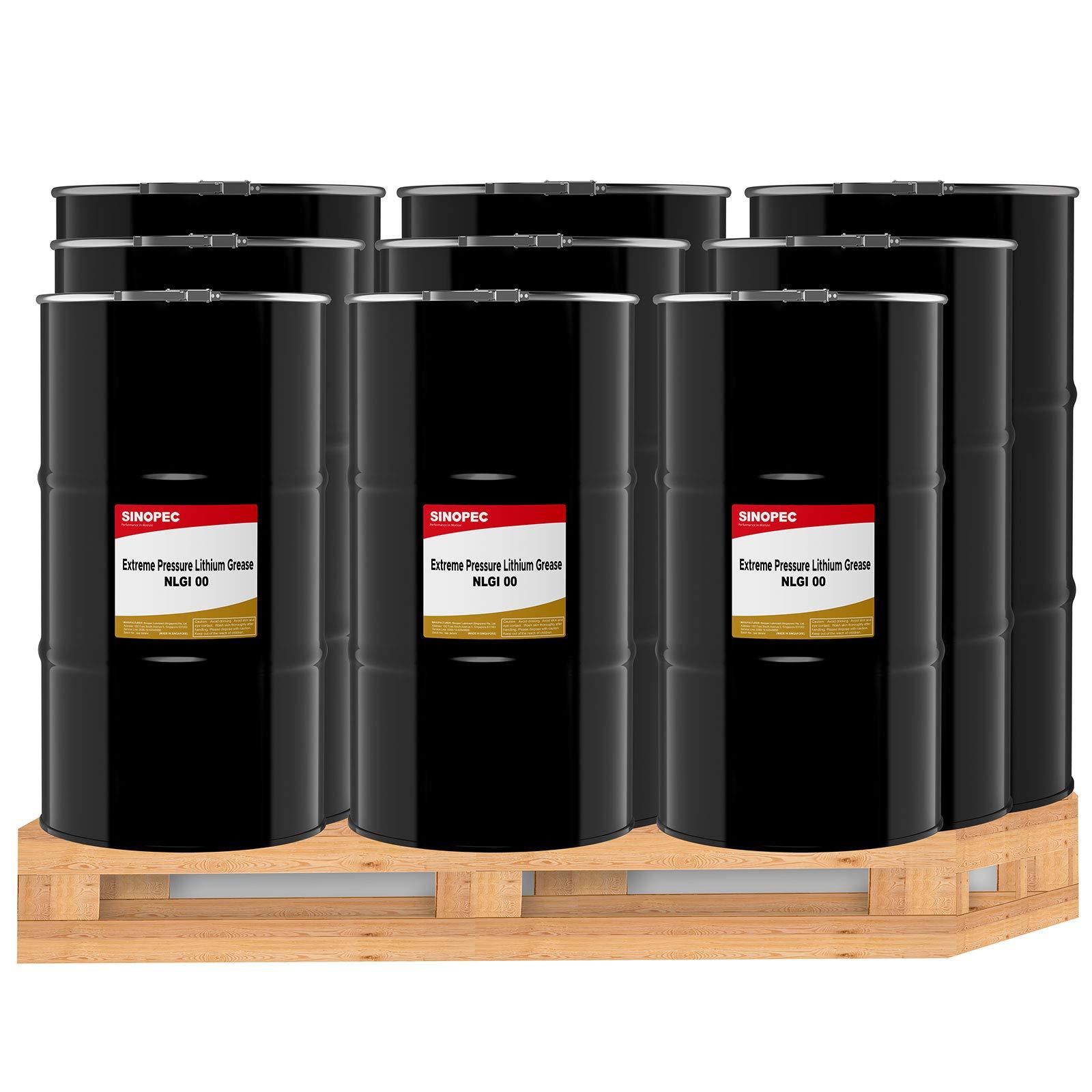 Sinopec (EP00 Extreme Pressure Multipurpose Lithium Grease, NLGI 00 - (9) 120LB. (16 Gallon) Kegs