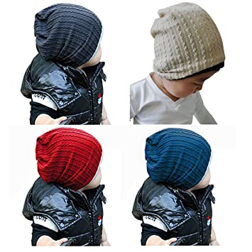 8efe5ebe4 Goyestore Fashion Cute boy girl Trendy Baby Toddler child Hat Knit Beanie  Warm Winter cap FBA (4 Pack)