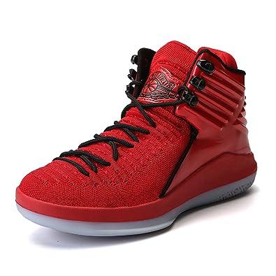 Herren Basketballschuhe High-Top Sportlich Sneaker für Männer(Gold EU47) Qwq0DU