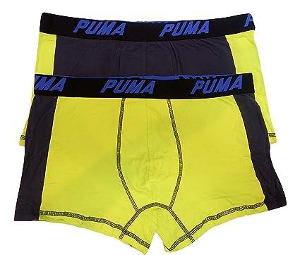 693d56b6a409 Puma 2 Pack Men's Cotton Color Block Underwear Trunks Boxer Briefs Cotton  Stretch (Small 28