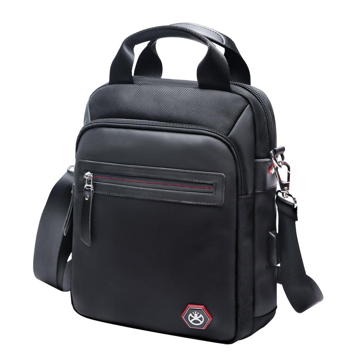 Nylon Crossbody Bag Vertical Messenger Shoulder Bag for Men Waterproof Classic Medium Handbag Business Briefcase Fashion Purse Commute Pack by BOOMRO