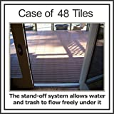 "Box of 48 tiles each EasyLink Deck Tile is 12"" x 12"" - 3rd Generation - Quick & Easy Outdoor or Indoor Flooring for all Hard"