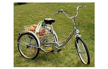 ZNL Fano de Tec Triciclo para adultos Last bicicleta adultos Tres - Rueda Personas Mayores ft de 7009 Plata: Amazon.es: Deportes y aire libre
