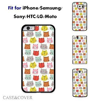 Teléfono celular cubierta Original Comic gato gatos carcasa para Samsung Galaxy S4 Mini (negro)