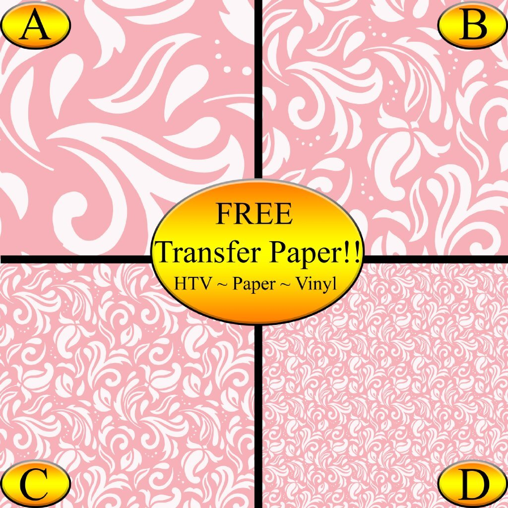 Pink Paisley Pattern Printed Heat Transfer Vinyl - Vinyl Sheets, Printed Vinyl (Style B - 12 x 24) by American Sign Letters