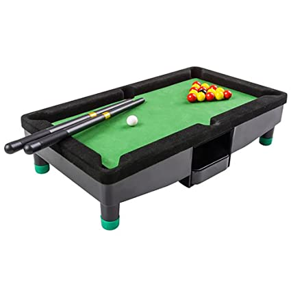 "896ad6e834e Amazon.com  9"" Travel Mini Pool Table for Kids by Gamie with 2 ..."