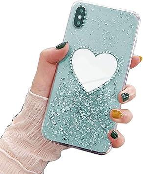 Uposao Kompatibel mit Samsung Galaxy S7 Handyh/ülle Glitzer Diamant Handy Ring St/änder Halter Schutzh/ülle Gl/änzend Bling Kristall Strass Silikon H/ülle Case Cover Sto/ßfest Handytasche,Gr/ün