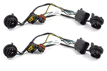 OEM NEW Head Light Socket Wiring Harness Front Right Left Set Silverado  Chevy Headlight Wiring on