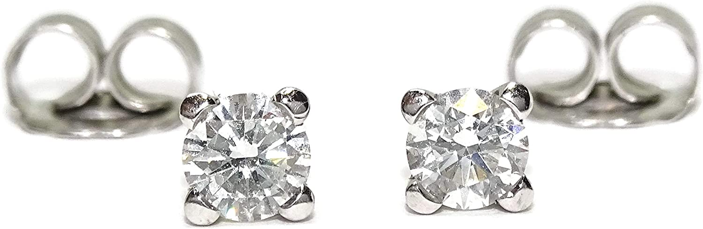 Pendientes de diamantes para mujer en oro blanco de 18k con 2 diamantes de 0.60cts cada uno. Un regalo inolvidable.