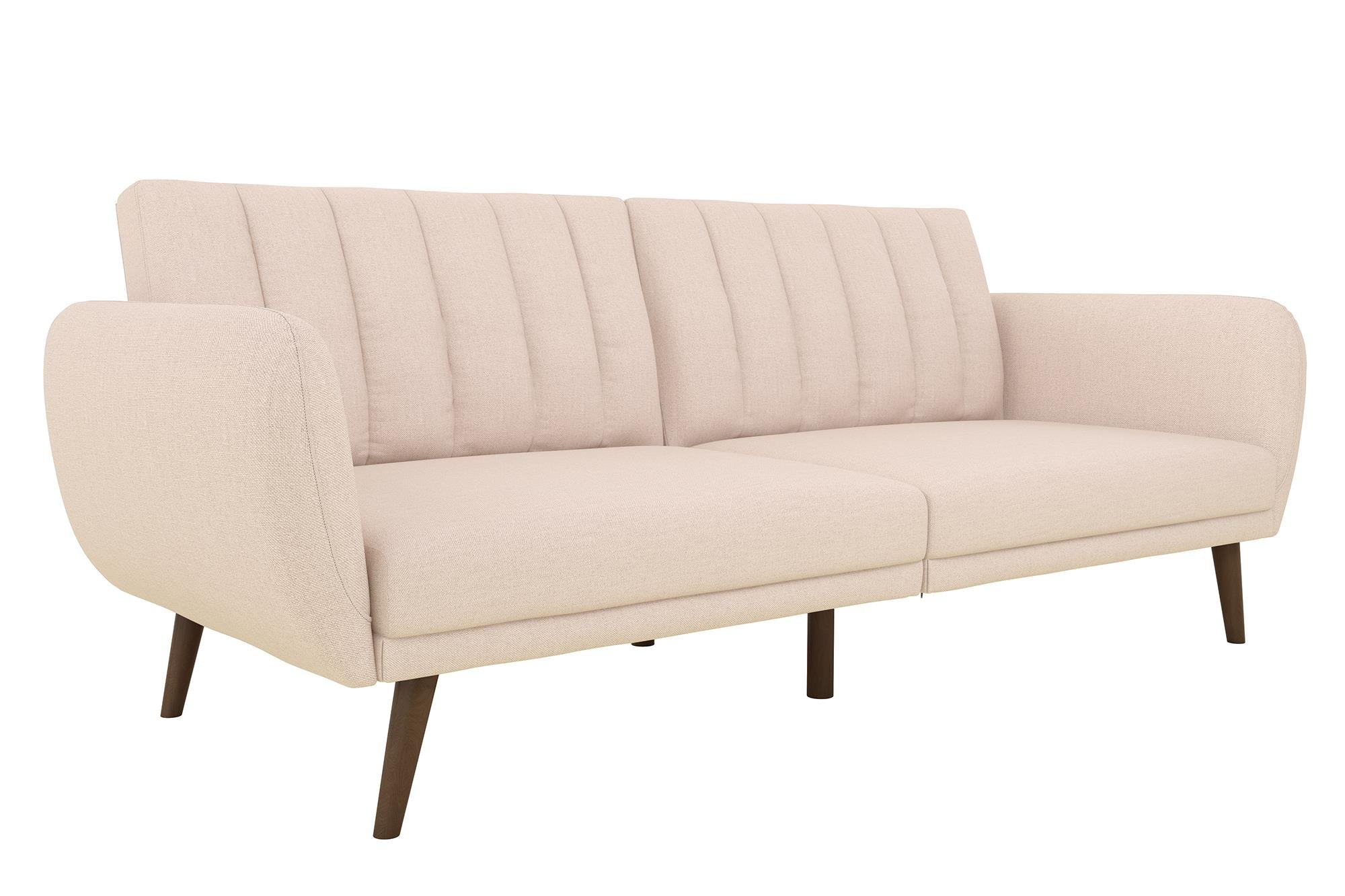 Large Pink Sofa Futon Living Room Furniture Sleeper Sofa Durable Easy  Cleaning