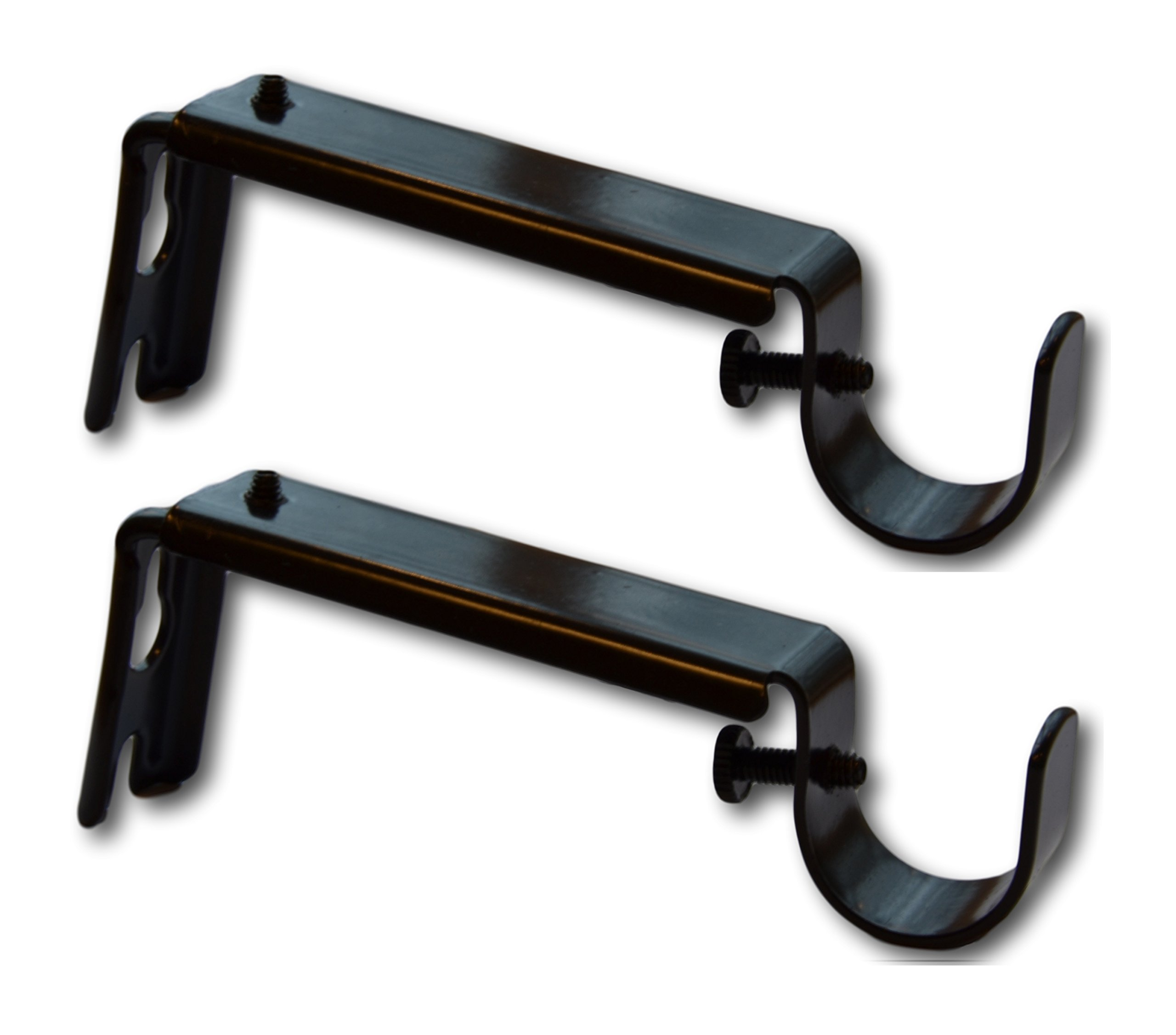 Adjustable Curtain Rod Extension Brackets - ⅝ or ¾ Inch Rod, Oil Rubbed Bronze