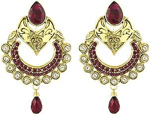 Shining Jewel Women's Gold Plated Cubic Zirconia Earrings - SJ_333