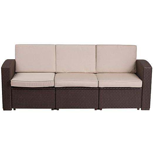 F&F Furniture Group - Sofá de Exterior de ratán sintético ...