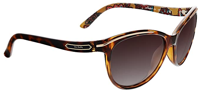 8c503dc496 Image Unavailable. Image not available for. Color  Vera Bradley Women s  Carolina Polarized Cateye Sunglasses ...