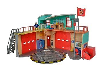 Unbekannt Simba 109258282 – Sam el bombero Estación de bomberos rígida con figura