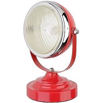 Lampe Phare De Voiture Rouge Metal Orientable La Chaise Longue 34 2m