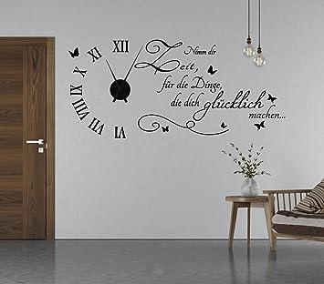 Tjapalo S Tku5 S Wanduhr Wandtattoo Uhr Wohnzimmer Wandsticker