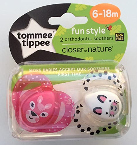 Tommee Tippee Closer to Nature Diversión Estilo chupete, 2 ...