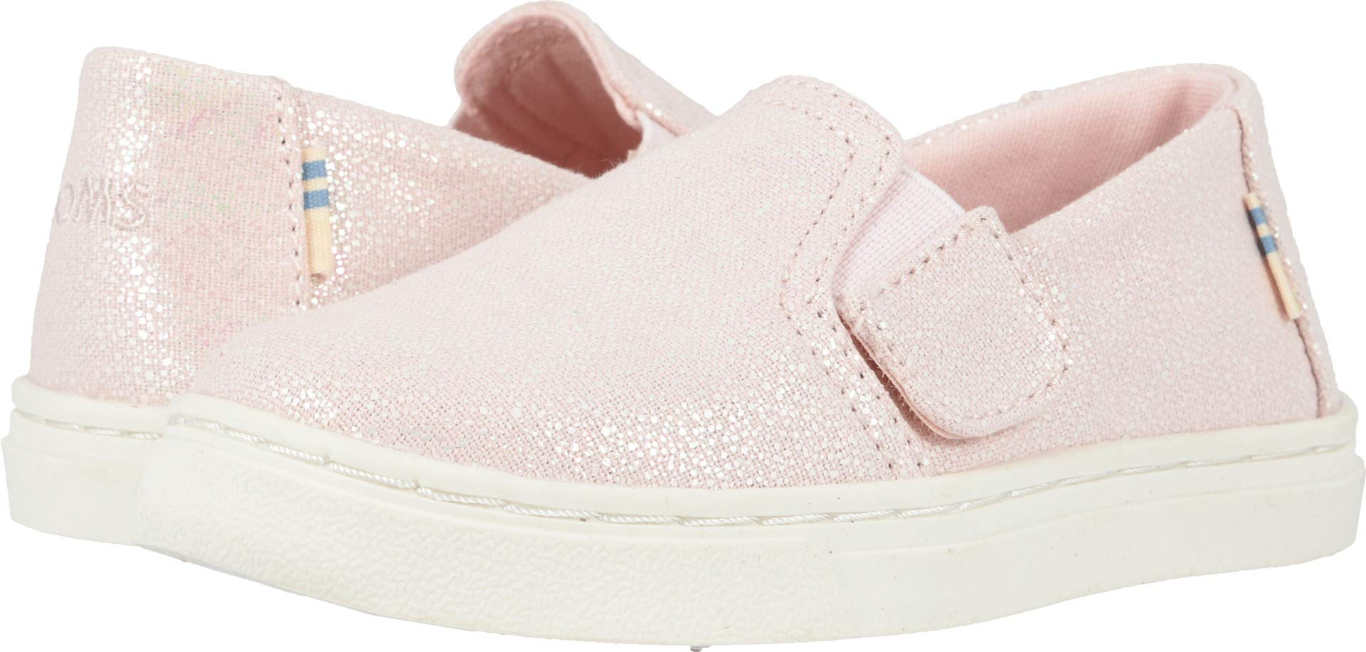 TOMS Luca Tiny Girls' Infant-Toddler Slip On 6 M US Toddler Pink-Iridescent