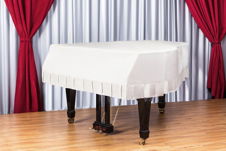 Clairevoire Grandeur: クラシックプレミアムベルベットグランドピアノカバー Yamaha GB1 / GB1K / GA1 / CN151PE用  151cm | 5 フード「冬の白(クリーム)」 B01A48OQM0 Winter White 5 ft[GB1]