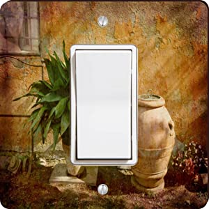 Rikki Knight Tuscan Rural Garden Single Rocker Light Switch Plate