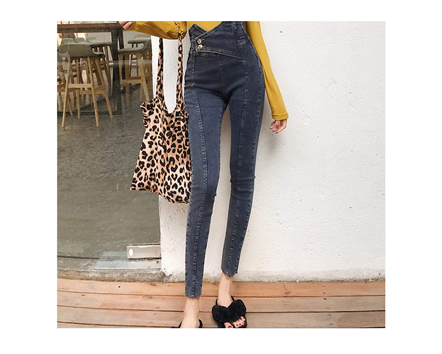 color syzhangdd Jeans Women Pencil Pants High Waist Jeans Sexy Slim Elastic Skinny Pants Trousers Fit Lady Jeans