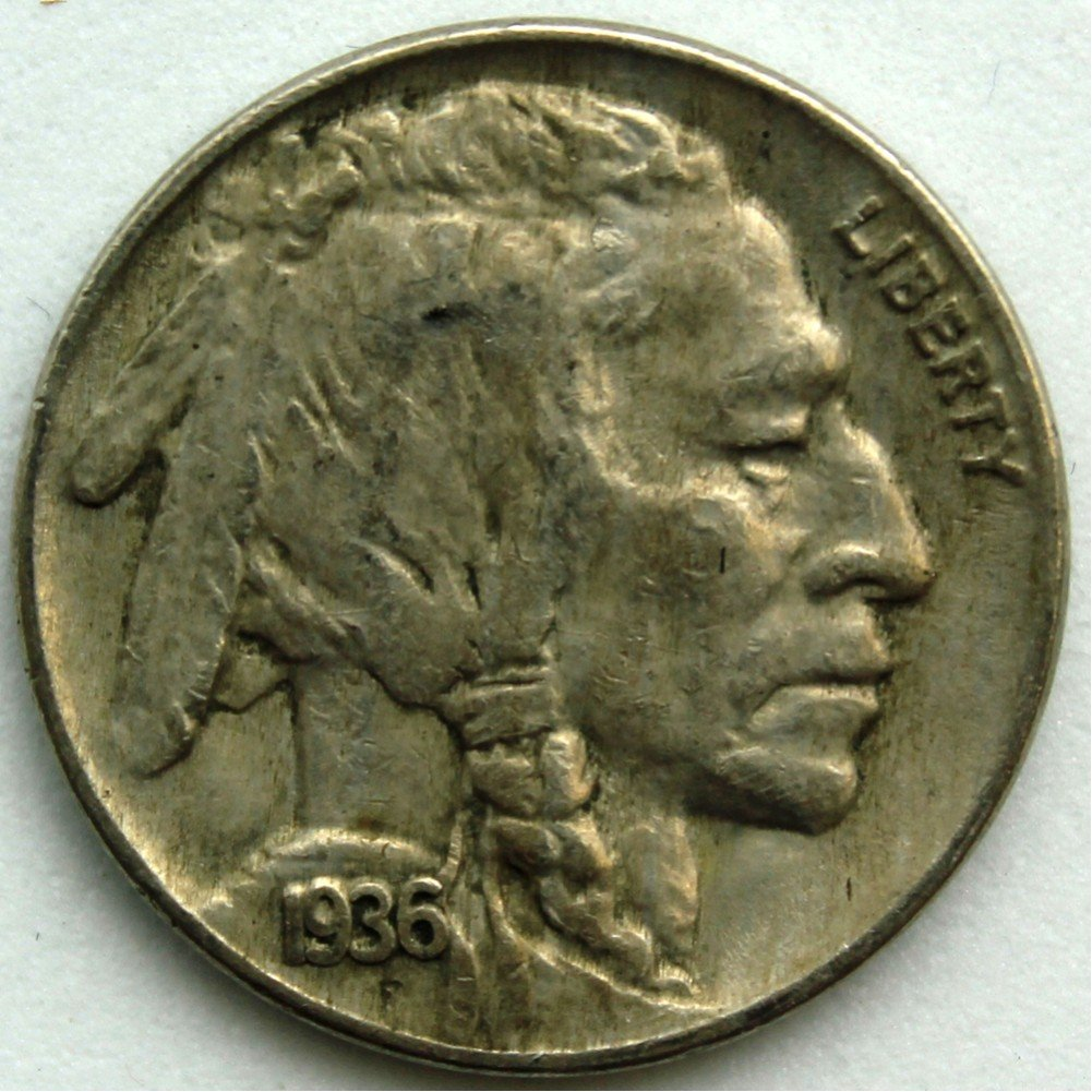 1936 Buffalo Nickel VF-20
