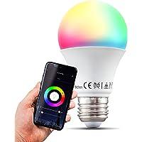 B.K.Licht I smart lamp I smart light I LED WiFi lamp I E27 lichtbron I RGB en CCT I voice control I bulb I slimme…