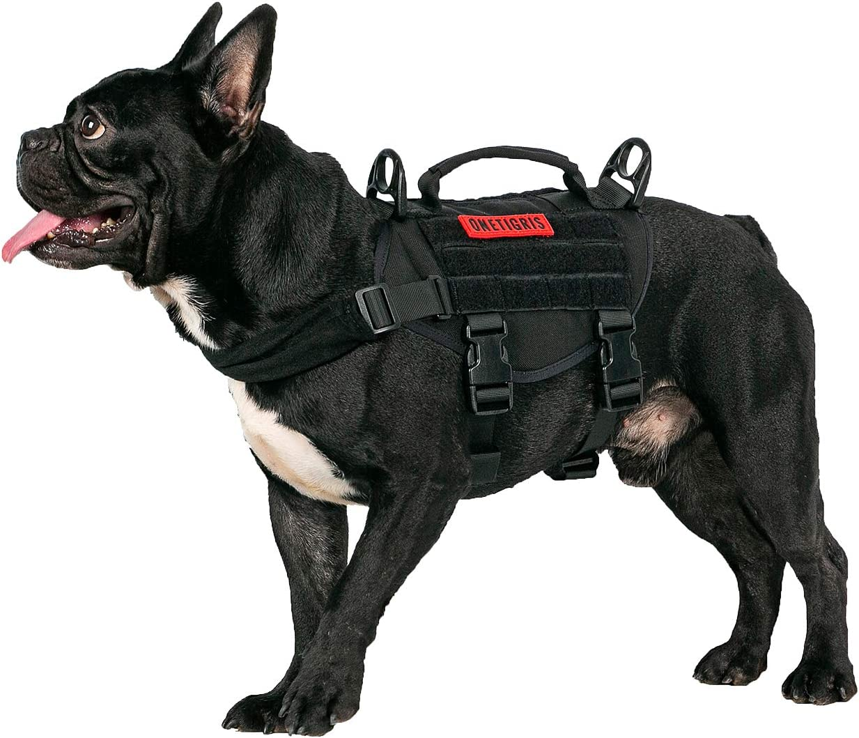 OneTigris Chaleco para perro pequeño, arnés táctico para perro con mango vertical duradero para cachorro pequeño: Amazon.es: Productos para mascotas