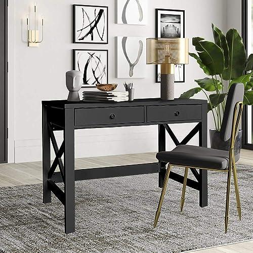 ChooChoo Home Office Desk Writing Computer Table Modern Design Black Desk