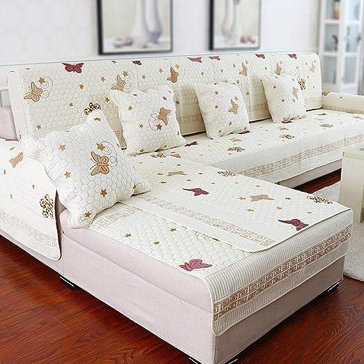 ABUKJM Fundas Sofas 3 Plazas,Cojín de sofá de algodón Funda ...