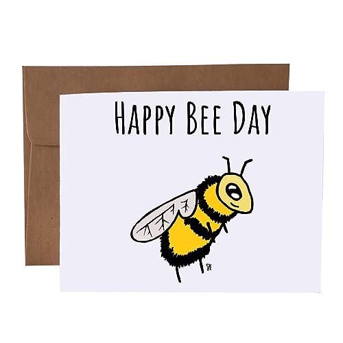 Happy Bee Day Bee Pun Card