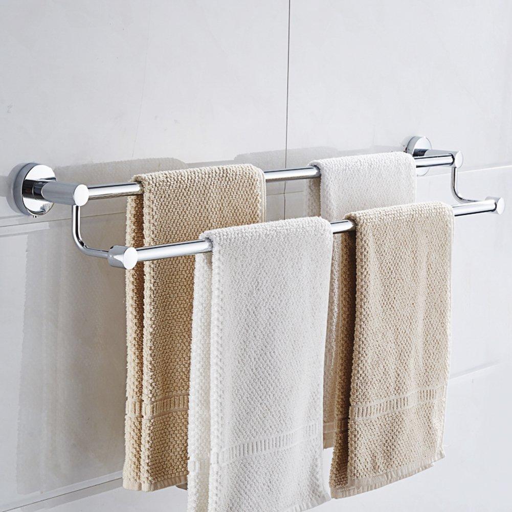 Cuarto de baño doble barras de toalla estante accesorio de para colgar para toalla de baño de acero inoxidable cromado acabado 22,4 pulgadas: Amazon.es: ...