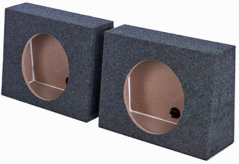 Q-power QTW12 Single 12-Inch Sealed Subwoofer Box Enclosures (Pair)