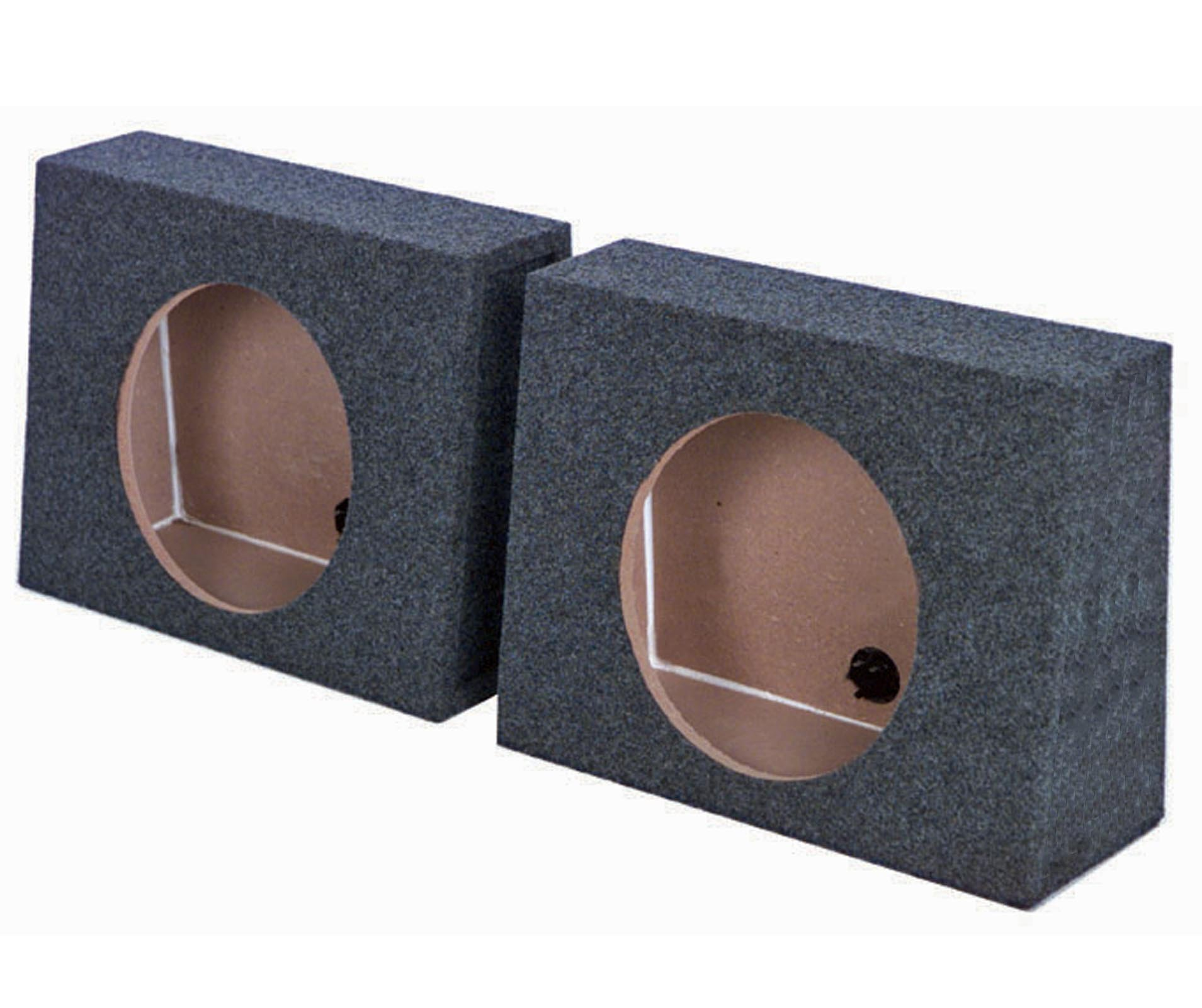 Q-power QTW12 Single 12-Inch Sealed Subwoofer Box Enclosures (Pair)
