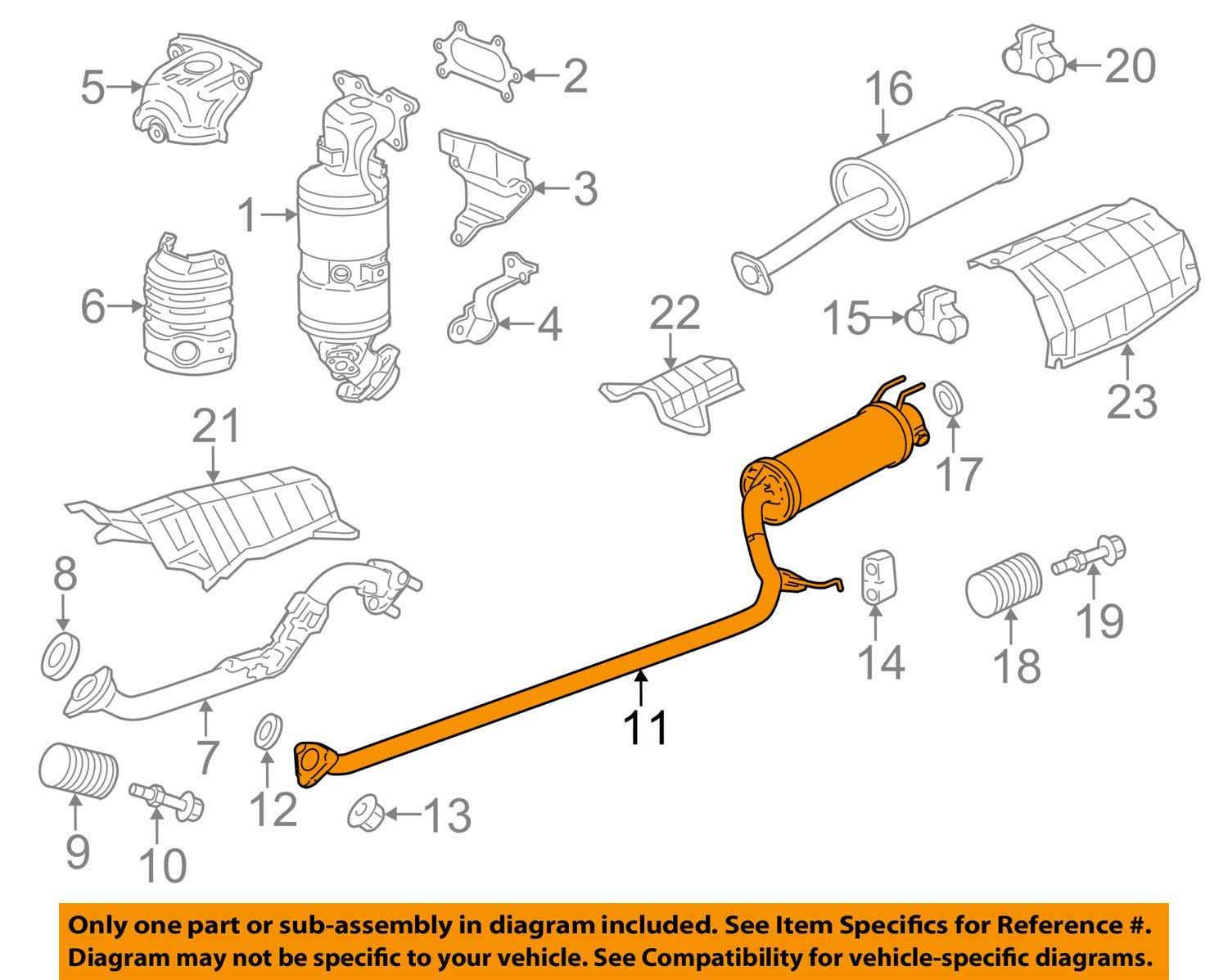 30 Honda Civic Exhaust System Diagram