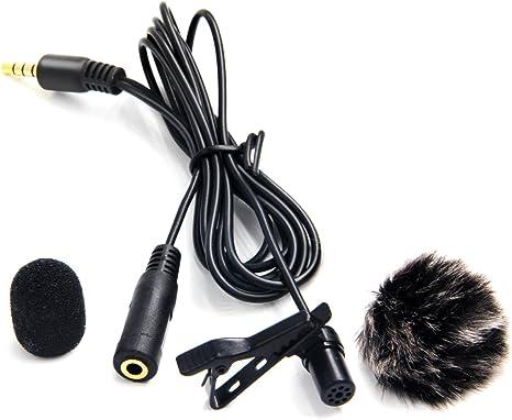 Nicama LVM4 Lavalier Micrófono de Solapa con Parabrisas Muff para ...